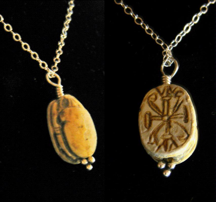 egyptian scarab necklace - photo #3