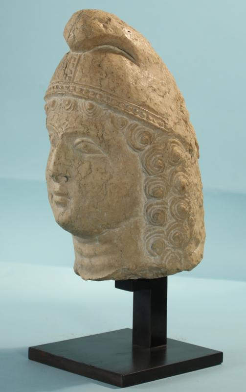 Roman Limestone Head of Mithras