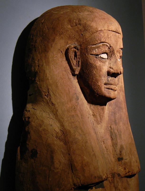 Egyptian Wood Mummy Sarcophagus