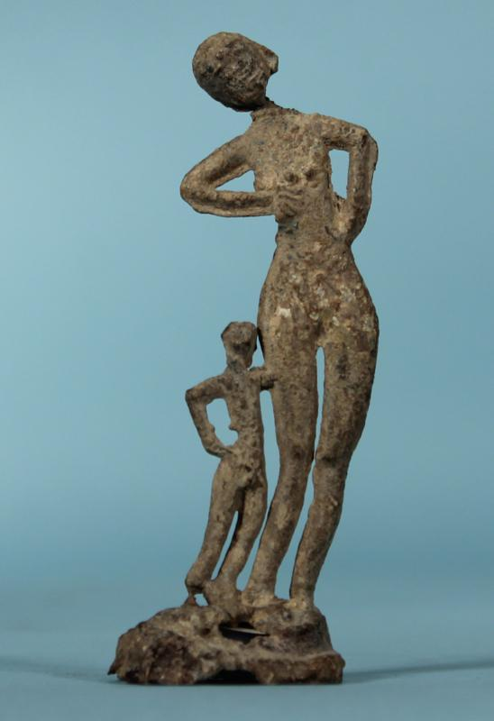 Hallstatt Lead Votive of a Mother and Child