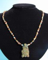 Egyptian Faience Bead Necklace: Hathor