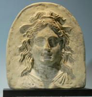 Greek Terracotta Antefix: Maenad