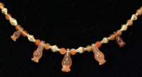 Egyptian Carnelian Poppy Amulet Necklace