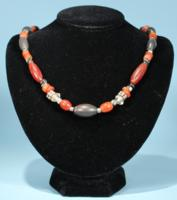 Canaanite Hematite and Carnelian Bead Necklace