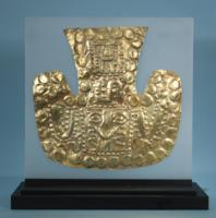 Sihuas Gold Embossed Headdress Ornament
