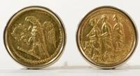 Gold Coins of Koson in Earring Mounts