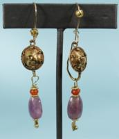 Roman Gold and Amethyst Earrings