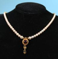 Roman Gold Earring Pendant Necklace