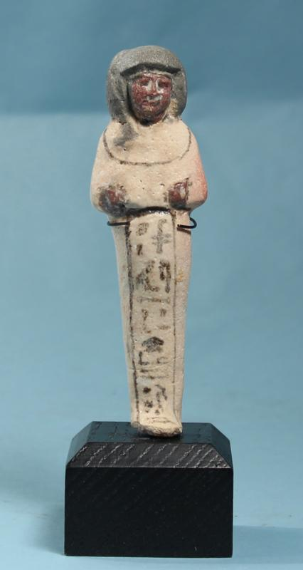 Egyptian White Faience Shabti of Khaemwaset