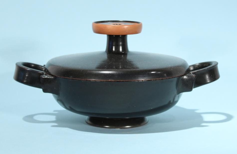 Attic Black-Glazed Lekanis
