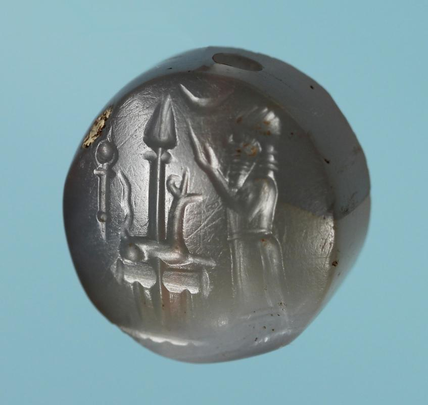 Assyro-Babylonian Chalcedony Stamp Seal