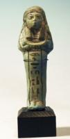 Egyptian Blue Faience Shabti of Isetii