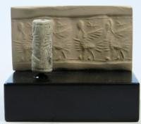 Neo-Assyrian Faience Cylinder Seal
