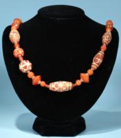 Sassanian Etched Carnelian Necklace