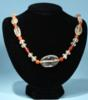Byzantine Crystal and Carnelian Bead Necklace